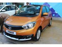 Tata Tiago Activ spotted at dealership