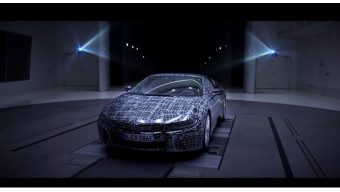 BMW teased the i8 Roadster ahead of next year   s launch