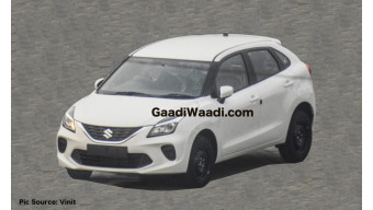 Maruti Baleno facelift revealed in new spy picture