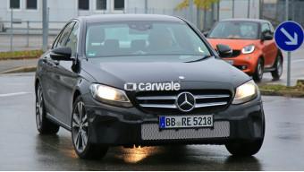 Mercedes-Benz C-Class facelift caught on test, hiding new bumpers