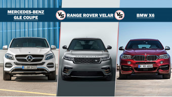 Range Rover Velar vs BMW X6 vs Mercedes-Benz GLE Coupe