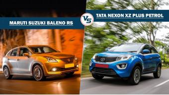 Tata Nexon petrol XZ Plus Vs Maruti Suzuki Baleno RS