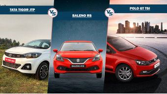 Tata Tigor JTP Vs Maruti Suzuki Baleno RS Vs Volkswagen Polo GT TSI compared