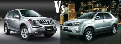 Mahindra XUV500 Vs Toyota Fortuner | CarTrade.com