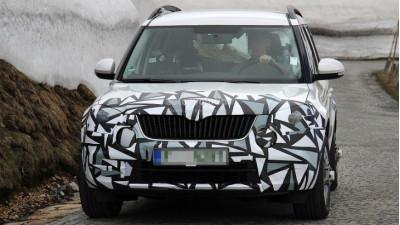 Skoda Yeti facelift caught performing road test   CarTrade.com