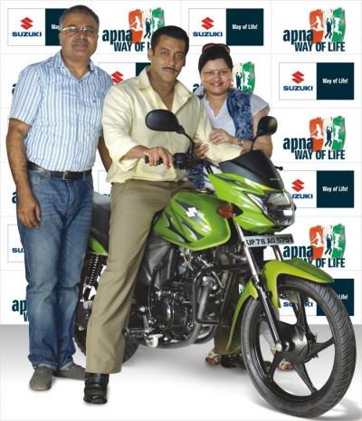 Suzuki Motorcycle signs Salman Khan to promote upcoming Hayate bike   CarTrade.com
