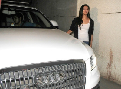 Alia bhatt with her audi q5