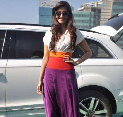 Sonam with her car
