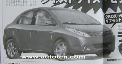 Spy Shots - Nissan Micra Saloon   CarTrade.com