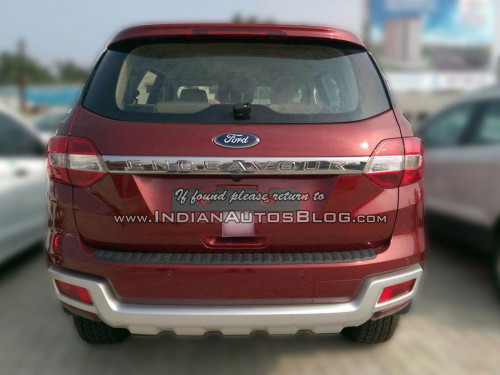 2016 Ford Endeavour Rear Snapped At An Indian Dealership