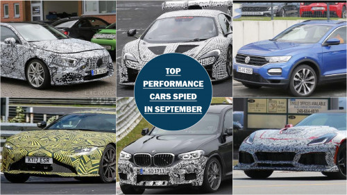 Top six performance cars spotted testing in September | CarTrade.com