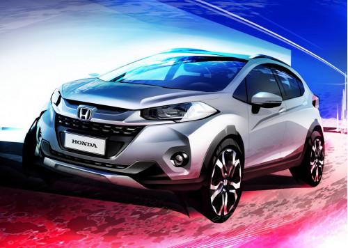 Design sketches of Honda WR-V revealed   CarTrade.com