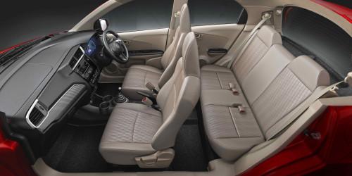 Facelifted Honda Brio upholstery