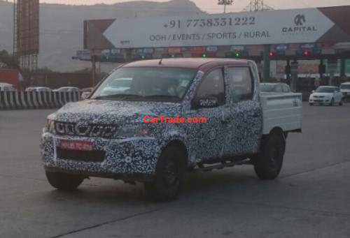 Mahindra Genio facelift spy shots | CarTrade.com
