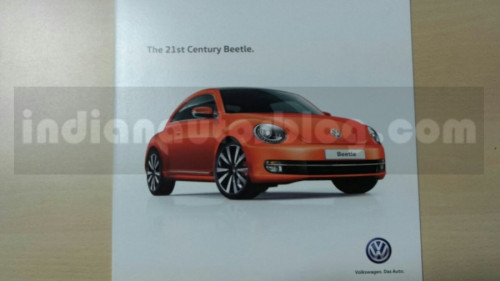 India bound Volkswagen Beetle brochure surface | CarTrade.com