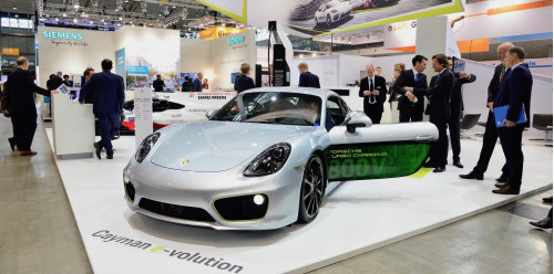 Porsche electrifies the Cayman for International Electric Vehicle Symposium   CarTrade.com