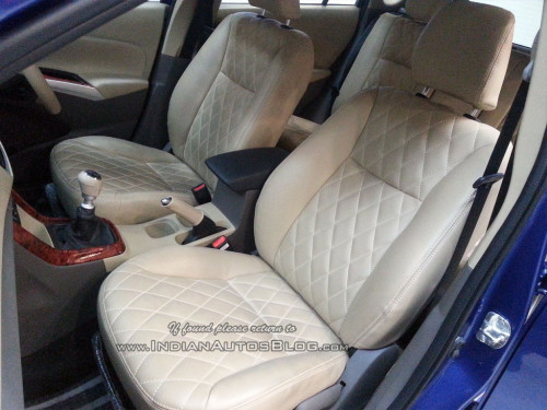 maruti s cross with wood finish dual tone interior spotted at dealership cartrade. Black Bedroom Furniture Sets. Home Design Ideas