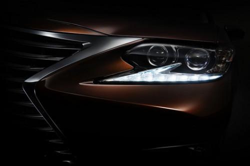 Teaser image of Lexus ES released before Shanghai Motor Show   CarTrade.com