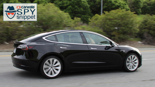 Tesla tests new Model 3 without camouflage