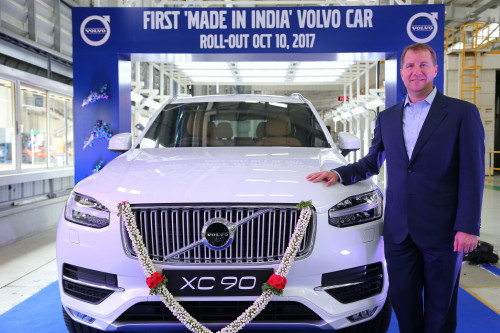 Volvo rolls out locally-assembled XC90 from their Bengaluru plant | CarTrade.com