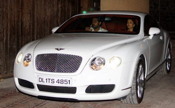 Abhishek Bachchan in his Bently Contenential GT