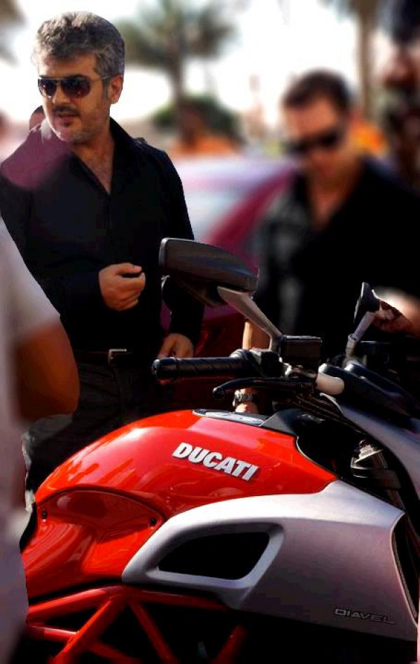 Southern actor Ajith to race a Ducati Diavel in Vishnu