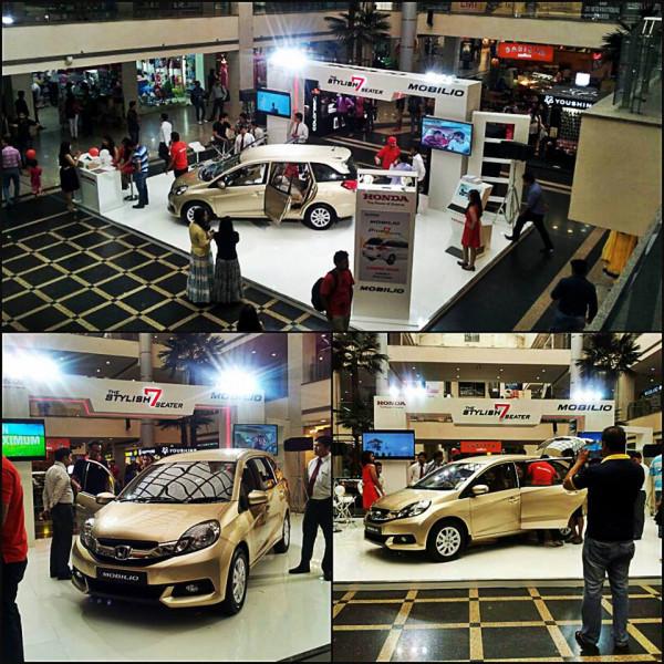 Honda puts Mobilio on display at Shipra mall in Indrapuram | CarTrade.com