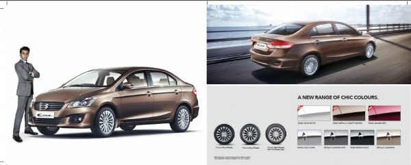Maruti Ciaz brochure released on official site, details inside   CarTrade.com