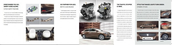 Maruti Ciaz brochure released on official site, details inside