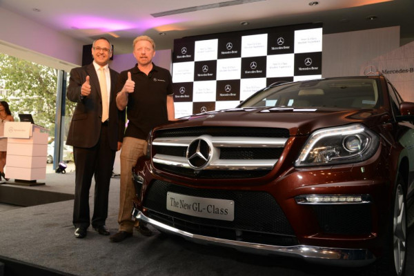 Boris Becker unveils new Mercedes-Benz 2013 GL-Class   CarTrade.com