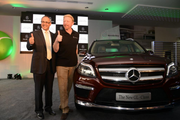 Boris Becker unveils new Mercedes-Benz 2013 GL-Class .