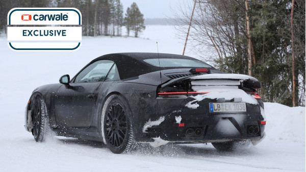 Porsche tests their all new 911 Cabriolet in cold weather conditions
