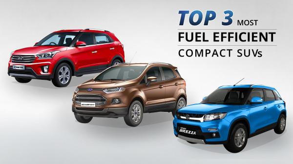 revealed top 3 most fuel efficient compact suvs cartrade. Black Bedroom Furniture Sets. Home Design Ideas
