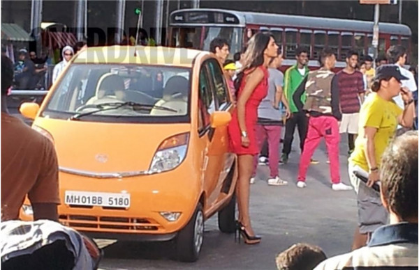 2013 Tata Nano spotted during shoot of ad-film in Mumbai | CarTrade.com