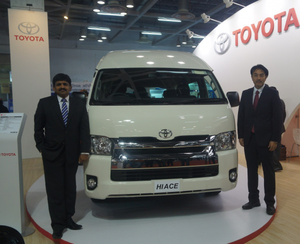 Toyota Hiace showcased at 4th Bus and Special vehicle show, launching second half this year in India | CarTrade.com