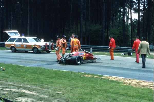 Worst formula one crashes of all time cartrade for Incidente gilles villeneuve