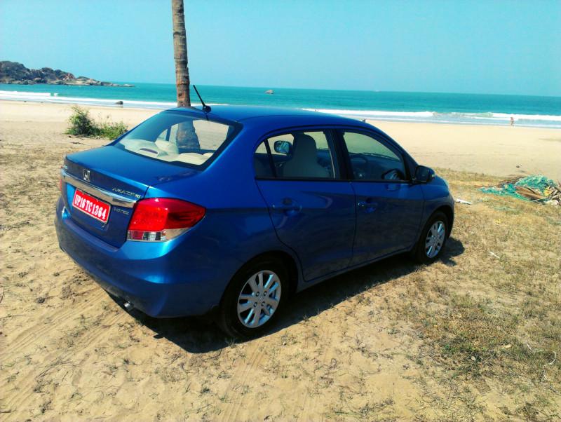 Honda Amaze Diesel on beach