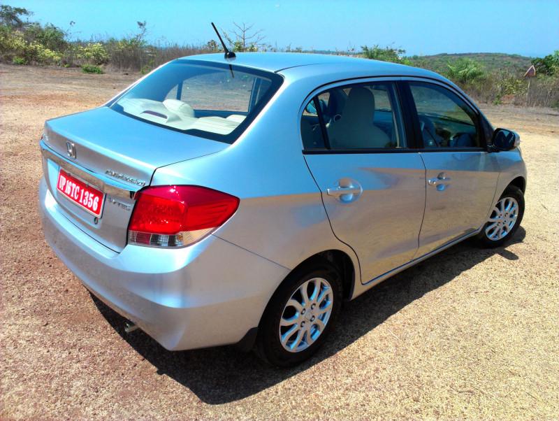 Honda Amaze rear quarter view