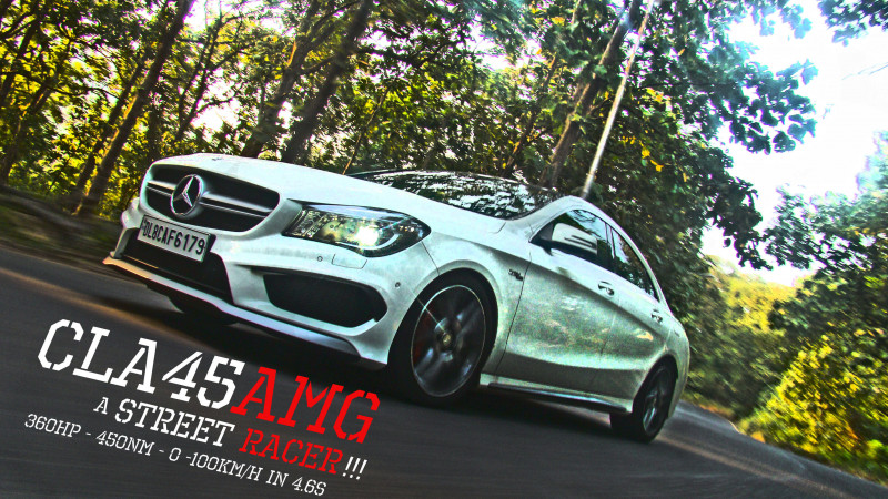 Mercedes Benz CLA45 AMG Review: Street Racer - CarTrade