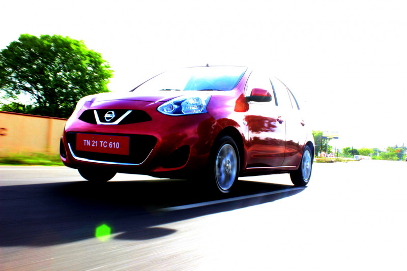 Nissan Micra in motion