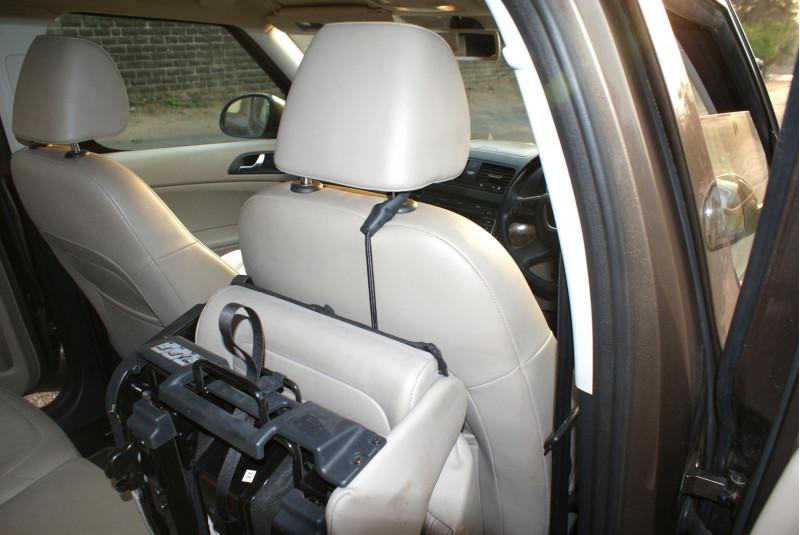 Skoda Yeti Testdrive April Interior Bungee Hooks To Keep Folded Rear Seats In Place