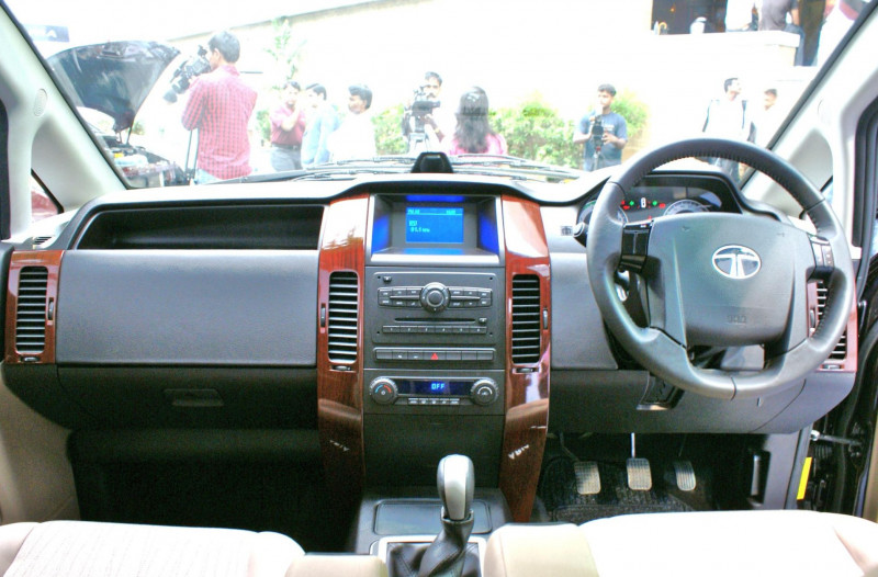 Tata Aria Test Pics Dashboard