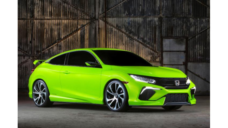 2016 Honda Civic Coupe will be the sportiest offering on the Civic Platform