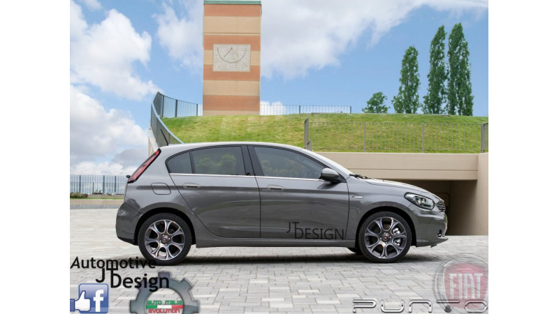 2017 Fiat Punto rendered images surface