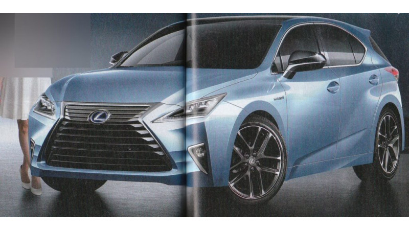 Second-gen Lexus CT hatchback rendered