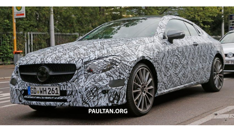 2017 Mercedes-Benz E-Class Coupe spotted on test