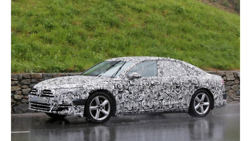 Fourth-generation Audi A8 spotted on-test