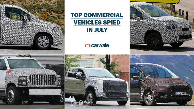Top five commercial vehicles spotted in July