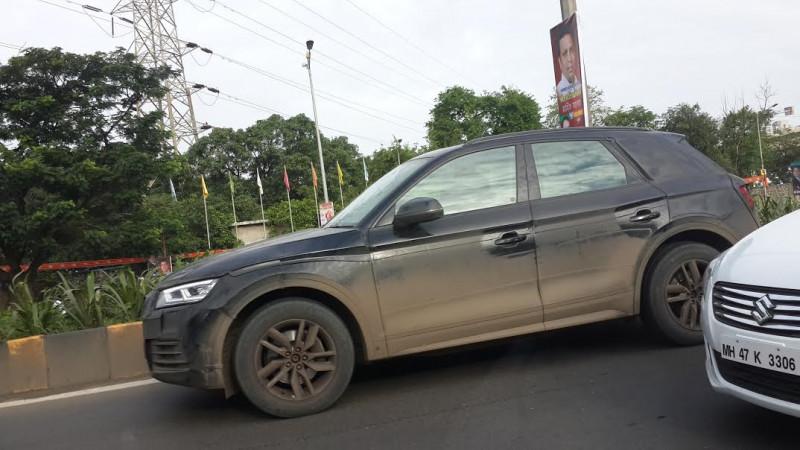Next-gen Audi Q5 spotted testing in Mumbai