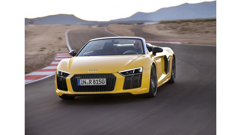 Audi debuts R8 Sypder at New York